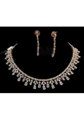 Rosegold Diamond Necklace set