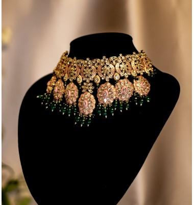 Gold and Pink Enamel Set