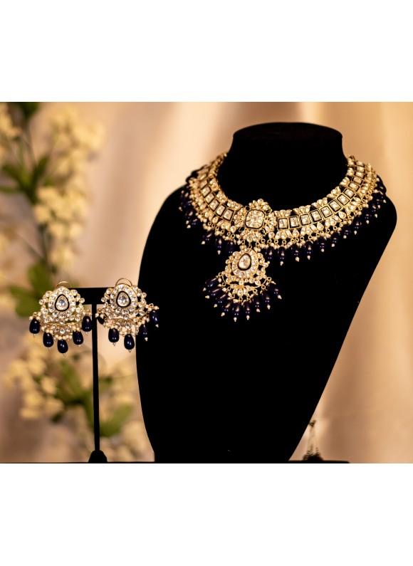 Sapphire Uncut Kundan Set