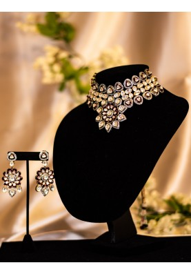 Flower Kundan Meena set