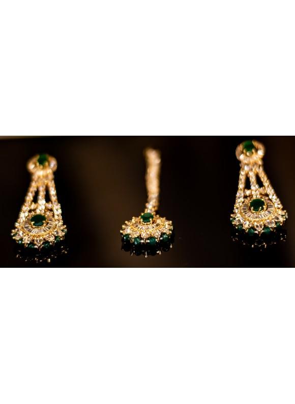 Emerald Gold choker set
