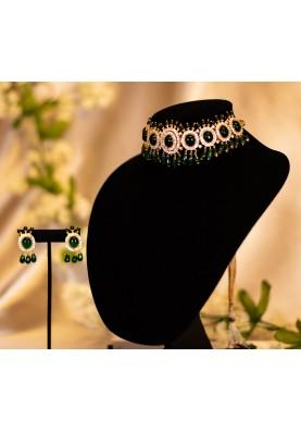Royal Emerald Choker set