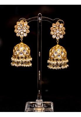 Traditional Kundan Jhumka Earrings