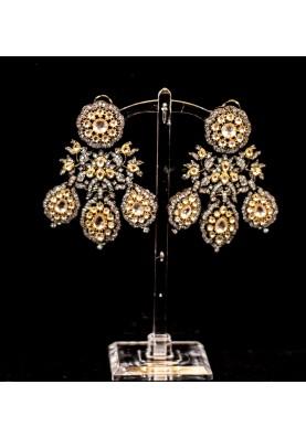 Petal leaf earrings