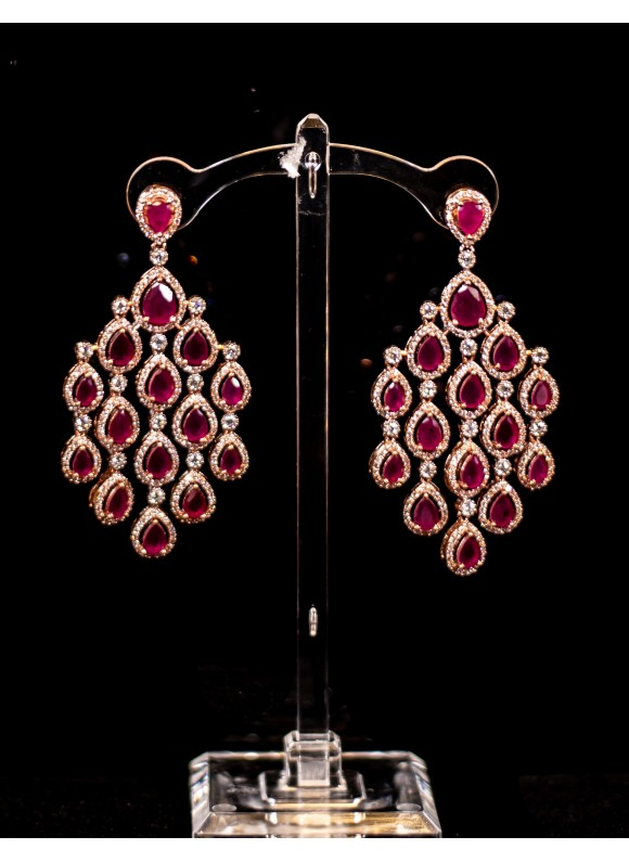 Ruby Rosegold Danglers