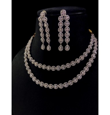 2-strings Diamond necklace set